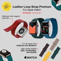 Leather Loop iWatch Apple Watch Strap 44 42 40 38 mm 6 5 4 3 2 1 Tali