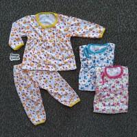 MPY111 Setelan Baju Bayi Perempuan Piyama Tidur Motif FLAMINGGO 2 spna