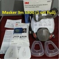 3M Masker Reusable full Face Mask Respirator 6800