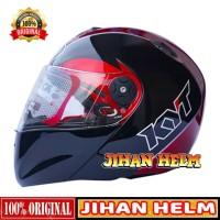 HELM / HELM KYT / HELM FULL FACE KYT X ROCKET BLACK RED MAROON TERBARU