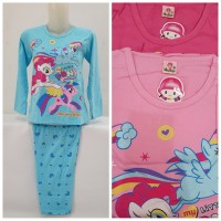 Piyama Anak/Baju Tidur Anak Little Pony Mermaid 8-10thn