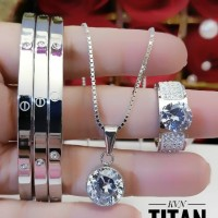 titanium set perhiasan dewasa L125