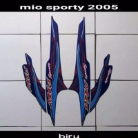 Striping atau stiker mio sporty 2005 biru