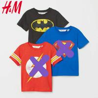 Kaos Baju Atasan Anak Lelaki Batman Hitam H&M 1-10tahun