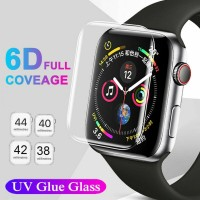 Tempered Glass 3D Apple Watch Screen iwatch 44mm 42mm 38mm Anti Gores