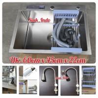 [LARIS] Bak Cuci Piring 60cm westafel Sink Kitchen Sink Stainless 304