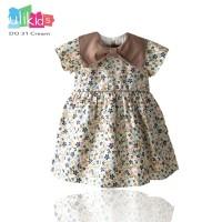 Ulikids Dress Anak Motif Bunga Elegan Bahan Baloteli Premium