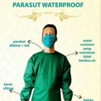 surgical gown/baju bedah/baju operasi/medis/rumah sakit/izin edar/apd - Hijau