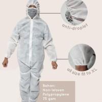 baju APD HAZMAT bahan kain parasut asahi dan spunbond