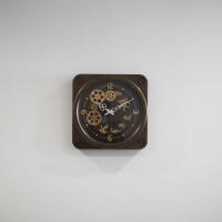 Jam Dinding / Clock Panjang 37 cm x Lebar 37 cm - Cokelat