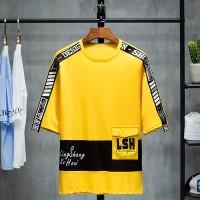 Kaos Distro Pria Casual Lengan Pendek Versi Korea T-Shirt SLM-T1901