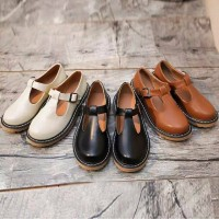 Docmart cewek vintage sol karet kulit sepatu sneakers main touring