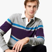 MARKS & SPENCER - Kaos Polo Pria - Chest Stripe Rugby Shirt