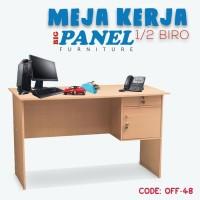 MEJA KERJA KAYU - MEJA KANTOR BIG PANEL 1/2 BIRO MTB-102 (OFF-48)