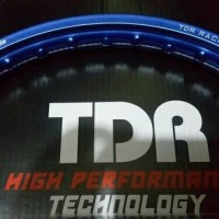 velg pelek TDR RACING BLUE ring 17 1pcs