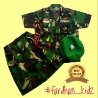 Baju kostum karnaval profesi Tentara/Doreng putri anak Tk-SD
