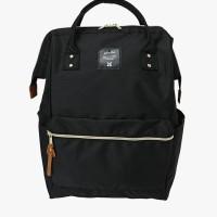 Tas Ransel Besar - anello - CROSS BOTTLE Kuchigane Backpack Large - Black