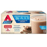 Atkins Ready To Drink Shake, Milk Chocolate Delight, 11-Ounce Aseptic