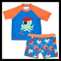 SW1917 - Setelan Baju Celana Renang Swimsuit Anak Bayi Balita Cowok