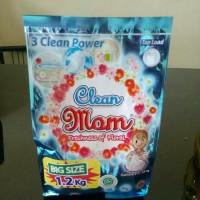 Deterjen CLEAN MOM Sabun Cuci Baju bubuk 1,2 Kg
