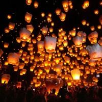 lampion terbang sky lantern lentera new year tahun baru ultah party