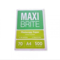KERTAS HVS MAXI BRITE A4 70GSM / gojek / grab