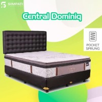 Springbed central dominiq uk 180x200 pocket plushtop + pillowtop kasur