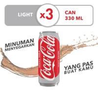 Coca-Cola Light - Kemasan Kaleng 330mL x 3pcs