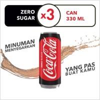 Coca-Cola Zero - Kemasan Kaleng 330mL x 3pcs