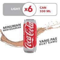 Coca-Cola Light - Kemasan Kaleng 330mL x 6pcs
