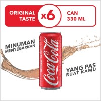 Coca-Cola Original - Kemasan Kaleng 330mL x 6pcs