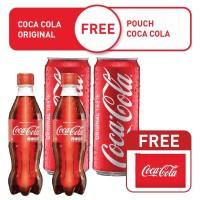 [Free Pouch Coca-Cola] Coca-Cola Botol 390ml 2pcs + Kaleng 330ml 2pcs