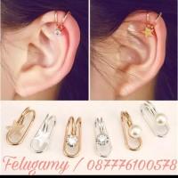Ear Clip | Anting Jepit Fashion Korea Terlaris (High Quality) Import