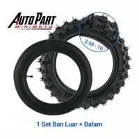 Ban LUAR dan DALAM Mini Trail Ring 10 Ukuran 2.50-10 Offroad
