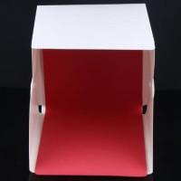 Photo Studio Mini Box Button dengan LED dan 4 PCS Background Size S