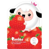 Masker Wajah Anak - Puttisu Real Fruits Sheet Mask Strawberry