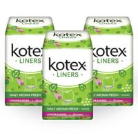 Kotex Liners Longer & Wider Daun Sirih 32s 3 Pack