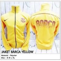 Jaket Bola Barcelona Anak Tanggung Import Yellow