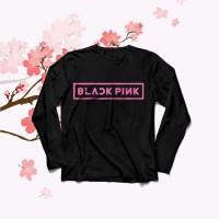 Kaos Baju Obral Combed 30s Distro Black Pink Blackpink Lengan Panjang