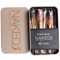 NAKED 3 KUAS SET Make Up Brush Naked 3 Brush Set Kit [ isi 12 kuas ]