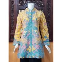 Atasan Blouse Batik MOSA Wanita. Motif Kawung Hijau Pekalongan -112
