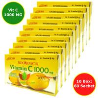 VITAMIN C 1000 MG SIDOMUNCUL 10 BOX (60 SACHET) UNTUK DAYA TAHAN TUBUH