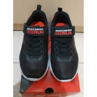 Sepatu Sneakers Anak Skechers Original Go Run Black Red Size 29