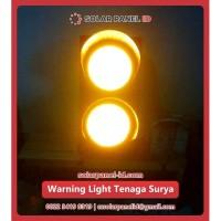 Lampu LED Warning Light Solarcell 2 Aspek 30cm