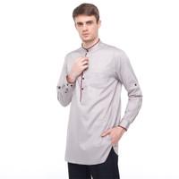 Salt n Pepper Baju Muslim Koko Lengan Panjang 020 Grey