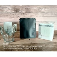 Paket Drip Bag Coffee Filter + Sachet Black Doff 50 pcs