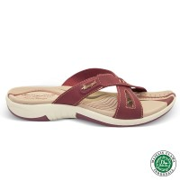 Homyped Ashley N36 Marun Sandal Flat Wanita