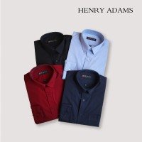 Kemeja Pria Besar Big Size L XL Henry Adams Basic Lengan Panjang