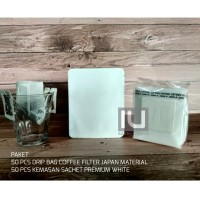 Paket Drip Bag Coffee Filter Sachet Putih Doff