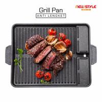 Yakiniku Grill Pan Y31 Barberque Grill Pan Alat Pemanggang BBQ - Hitam